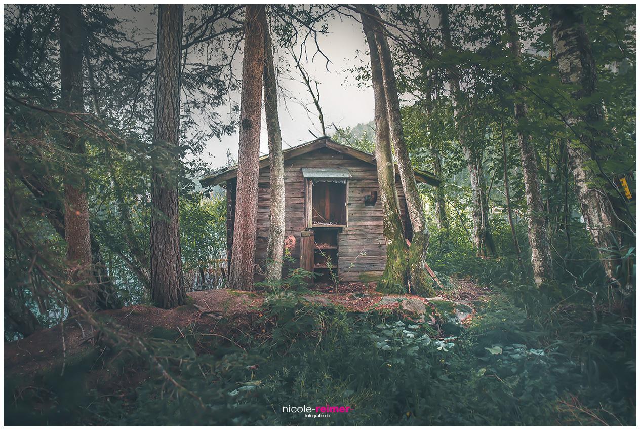 Hütte am Piburger See im Ötztal Nicole Reimer Landschaftsfotografie