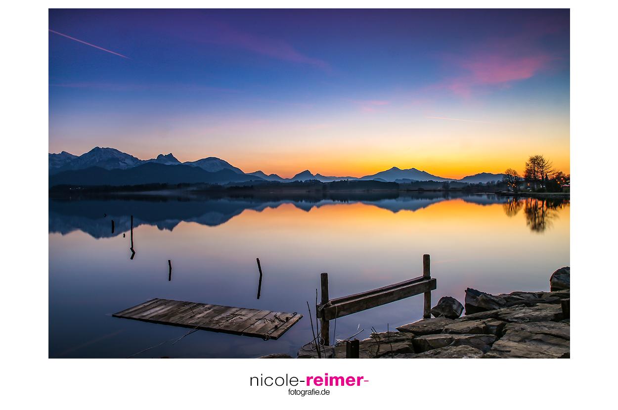 Sonnenuntergang und Blaue Stunde am Hopfensee, Deutschland, Nicole Reimer Fotografie, www.nicole-reimer-fotografie.de