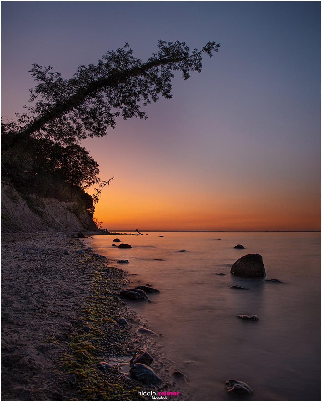 Sonnenuntergang in der Lübecker Bucht, Brodtener Steilufer zwischen Travemünde und Niendorf, Schleswig Holstein, Nicole Reimer Fotografie