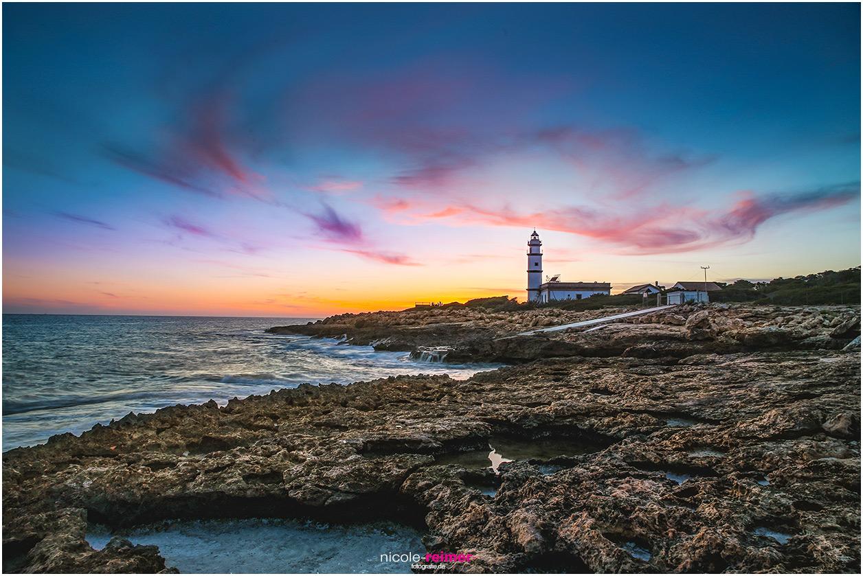 Leuchtturm am Kap de ses Salines, Mallorca, Spanien, Nicole Reimer Fotografie