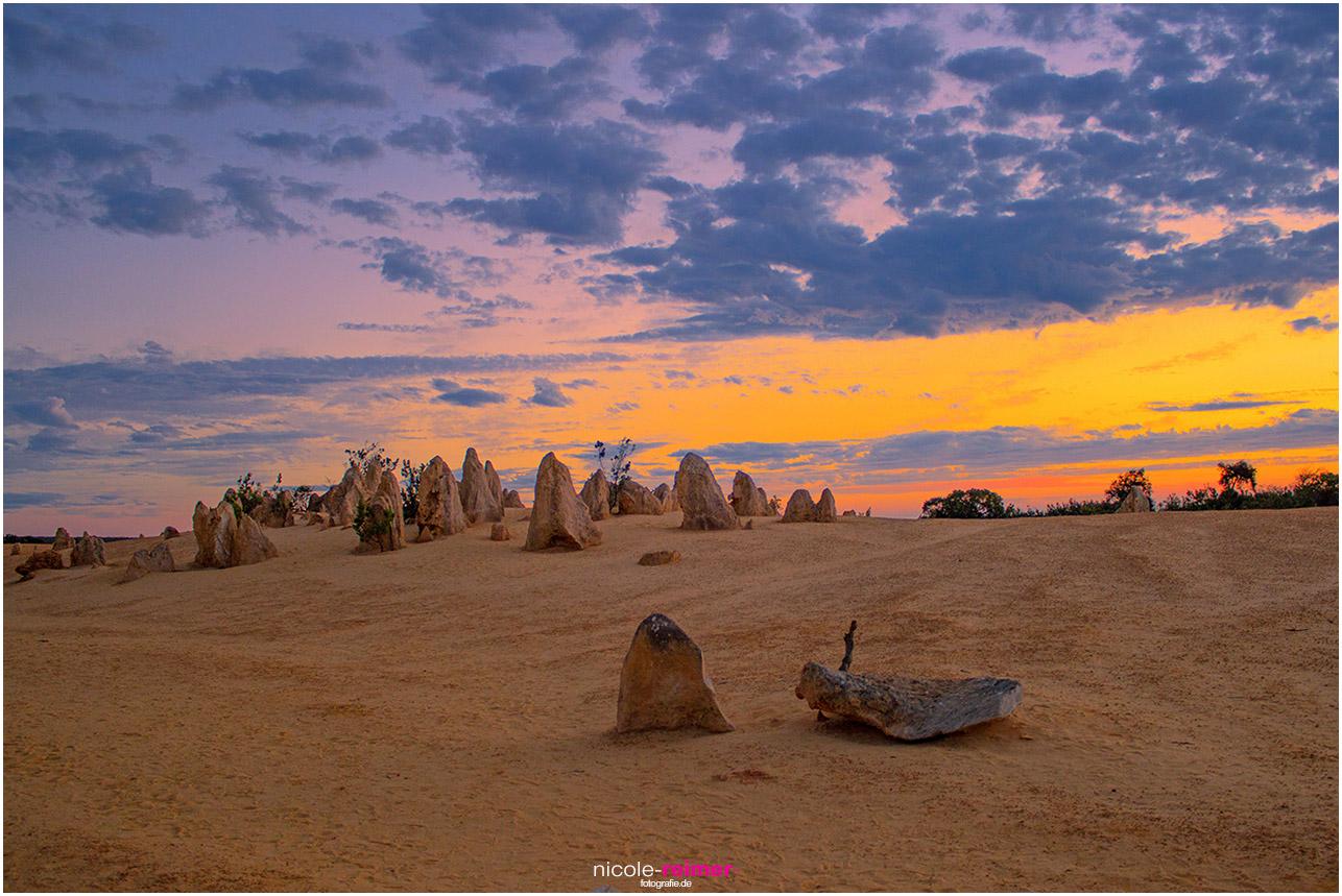 Sonnenuntergang bei den Pinnacles im Nambung Nationalpark - Nicole Reimer Fotografie