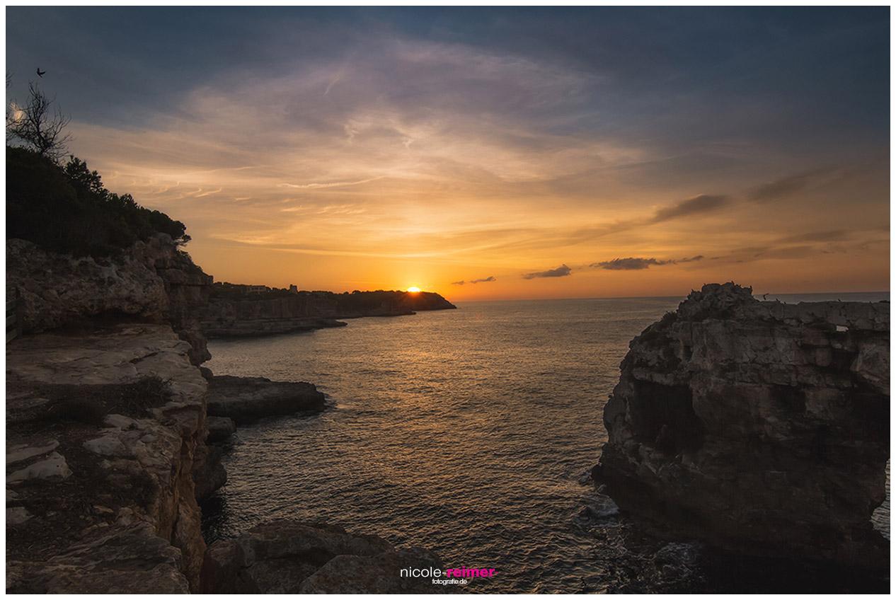 Steilküste vor Santanyi und Espontas im Licht der aufgehenden Sonne, Nicole Reimer Landschaftsfotografie