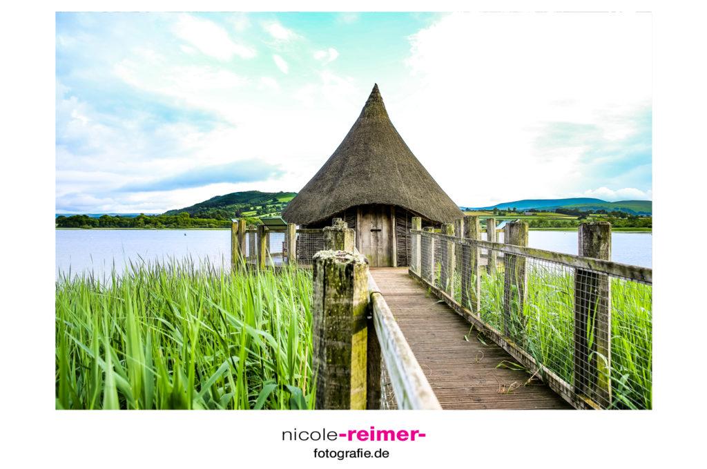 Kleine Hütte am Llangorse Lake, Brecon Beacons, Wales