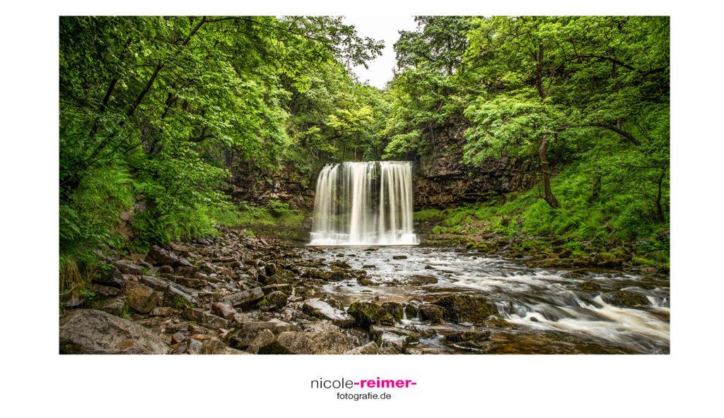 Wasserfall Sgwd yr Eira Brecon Beacons Wales