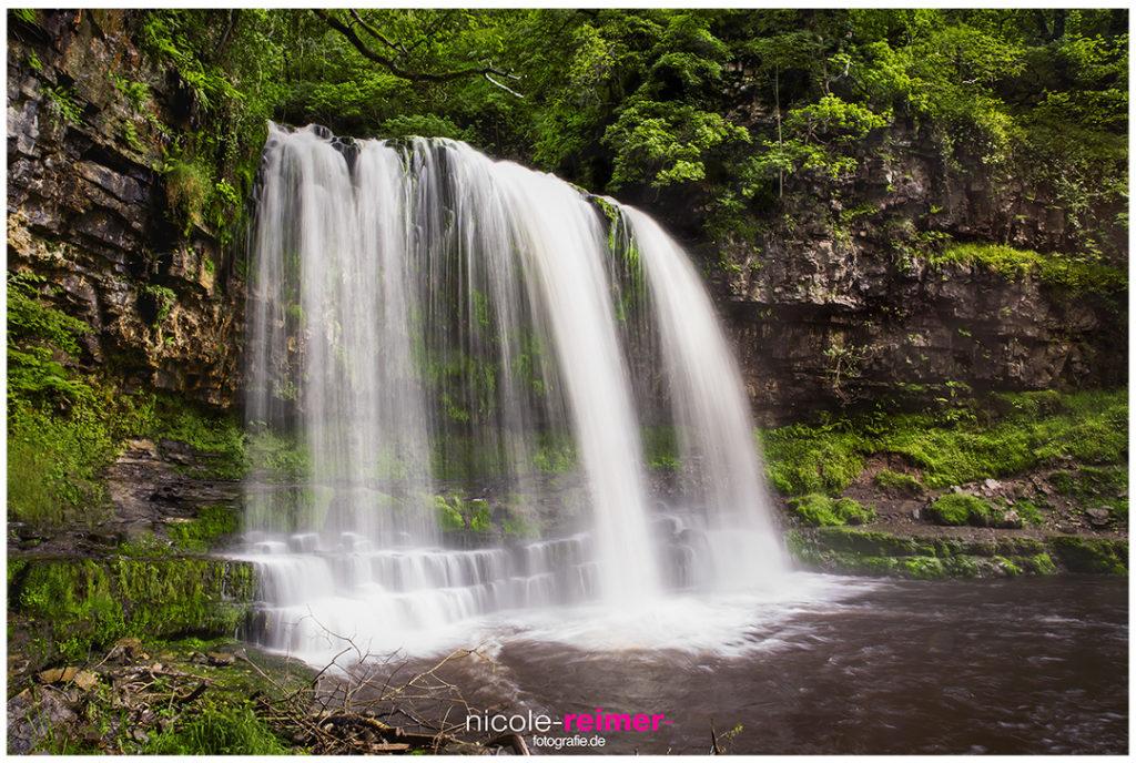 Wasserfall bei Ystradfellte